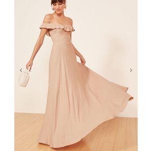 Reformation Verbena Champaign Dress